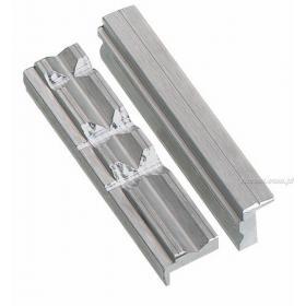 1223.M1 - zestaw szczęk aluminiowych z rowkami pryzmowymi, 125 mm