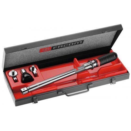 J.310B - zestaw kluczy z wyzwalaniem z akcesoriami, 20 - 100 Nm