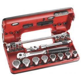 "JL.DBOX501 - zestaw nasadek 3/8"" w kasecie, 8 mm - 22 mm"