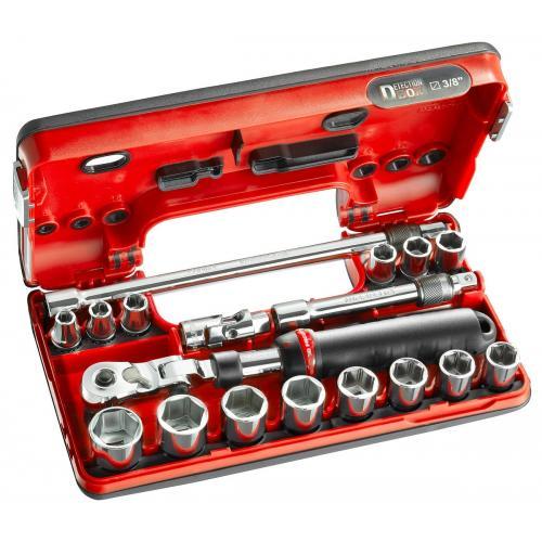 """JXL.DBOX1 - zestaw nasadek 3/8"""" w kasecie, 8 mm - 22 mm"""