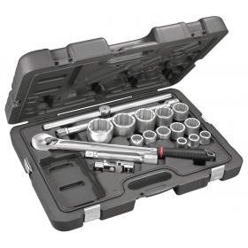 "KL.501 - zestaw nasadek 3/4"" w walizce, 19 mm - 55 mm"