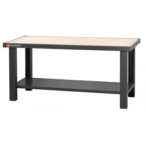 WB.2000WA - stół warsztatowy 2 m - blat drewniany
