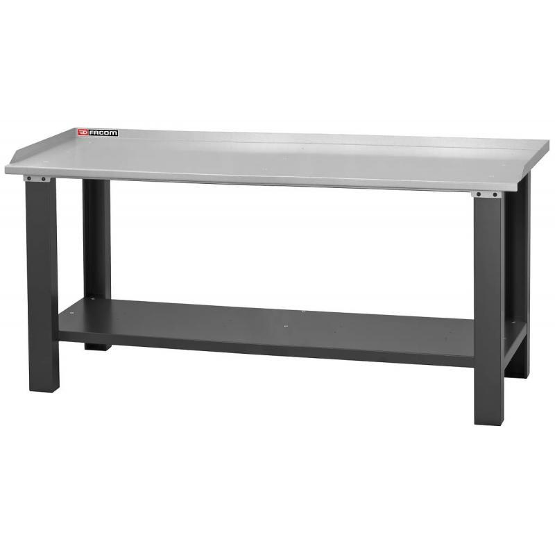 WB.2000GSA - stół warsztatowy 2 m - blat z blachy ocynkowanej