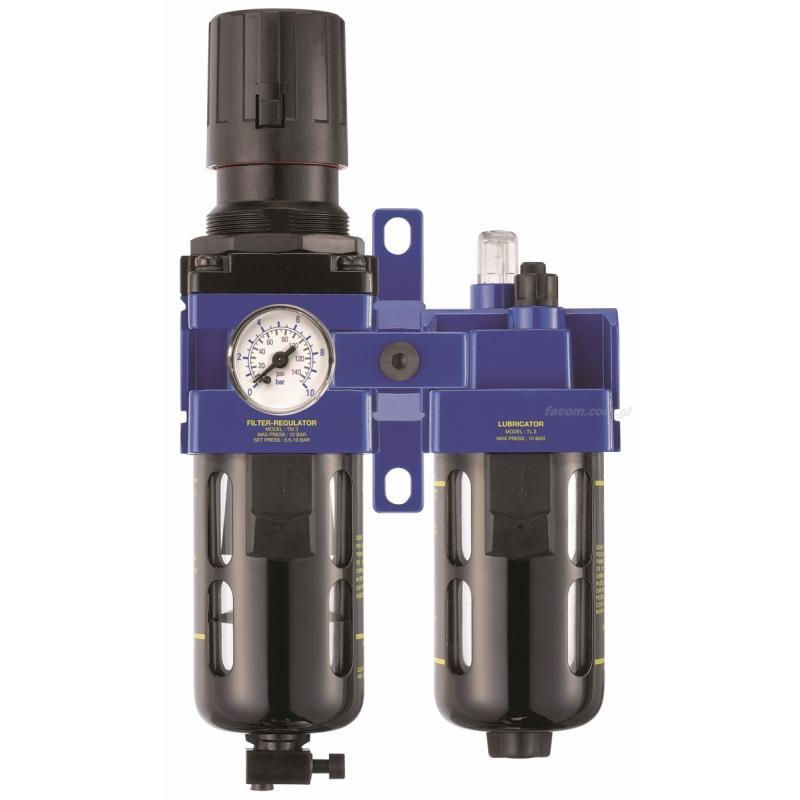 "N.581 - filtr regulująco-smarujący 3/8"" Gaz BSP"