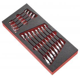 MODM.467RJ12 - moduł 12 kluczy oczkowo-płaskich z widełkami grzechotkowymi metrycznymi