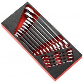 MODM.467RJ14 - moduł 14 kluczy oczkowo-płaskich z widełkami grzechotkowymi metrycznymi