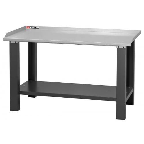 WB.1500GSA - Stół warsztatowy 1,5 m - blat z blachy ocynkowanej
