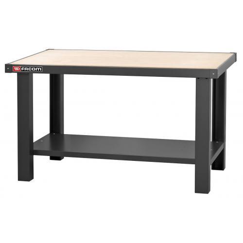 WB.1500WA - Stół warsztatowy 1,5 m - blat drewniany