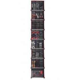 CM215BNL - zestaw 215 narzędzi - 22 moduły, w systemie przechowywania na 8 szuflad wózka