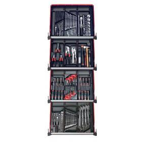 CM.150BNL - zestaw 150 narzędzi - 12 modułów, w systemie przechowywania na 4 szuflady wózka
