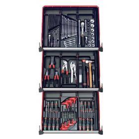 CM.115BNL - zestaw 115 narzędzi - 9 modułów, w systemie przechowywania na 3 szuflady wózka