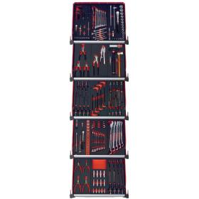 CMM175BNL - zestaw 175 narzędzi - 15 modułów piankowych, w systemie przechowywania na 5 szuflad wózka