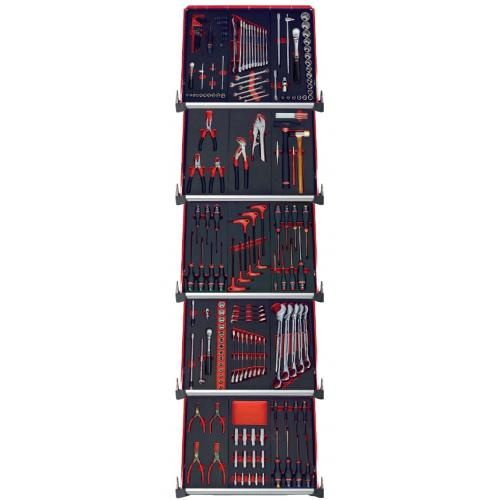CMM.175BNL - zestaw 175 narzędzi - 15 modułów, w systemie przechowywania na 5 szuflad wózka
