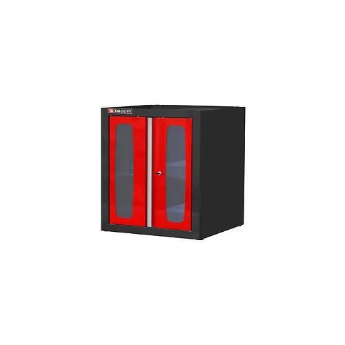 JLS2-MBSPV - szafka niska Jetline - pojedyncza z drzwiami przeszklonymi