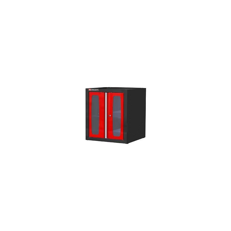 MBSPV - szafka niska Jetline - pojedyncza z drzwiami przeszklonymi