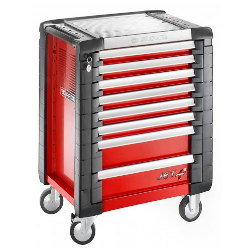 JET.8M3 - ROLLCAB JETM3 8 DRAWERS RED