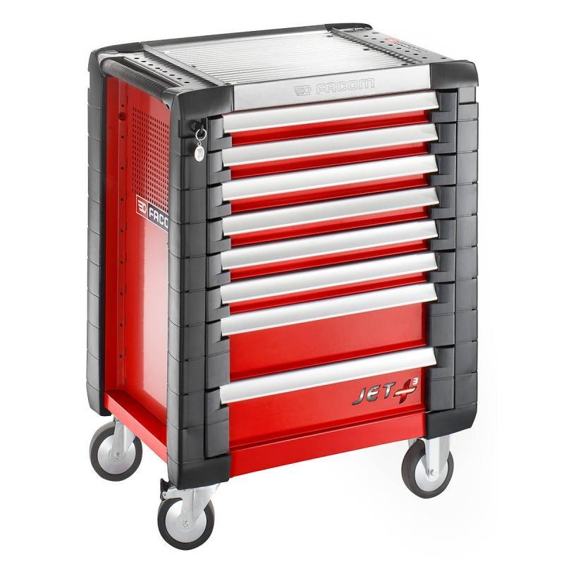 JET.8M3 - wózek JET+ 8, szuflad, 3 moduły na szufladę, czerwony