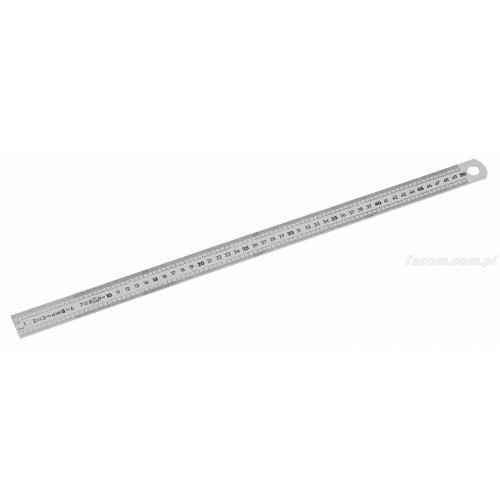 DELA.1056.500 - Linijka półsztywna krótka ze stali nierdzewnej - 2 stronna, 500 mm