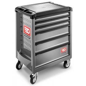 ROLL.6M3 - wózek ROLL, 6 szuflad, 3 moduły na szufladę, szary