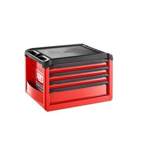 ROLL.C4M3 - skrzynka ROLL, 4 szuflady, 3 moduły na szufladę, czerwona