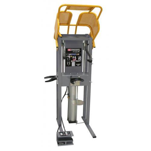 DLS.500HPS - stanowisko pneumatyczne do ściągania sprężyn z blokadą klatki