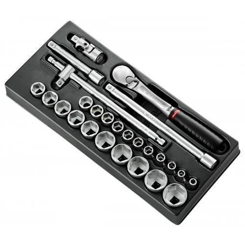 """MOD.SL161-46 - 1/2"""" metric 6-point sockets module"""