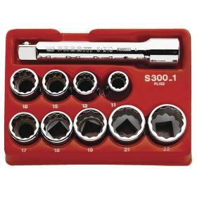 "R.300-1 - Zestaw nasadek 1/4"" 7-13 mm"
