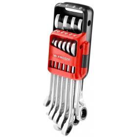 """467BR.JP10 - zestaw 10 kluczy oczkowo-płaskich """"szybkich"""", metrycznych 8 - 19 mm"""