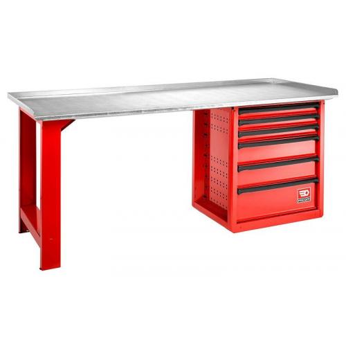 2000.ROLL6M3G - workbench, galvanized steel worktop