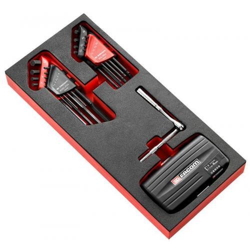 """MODM.RL8389 - Moduł nasadek 1/4"""" 6-kątnych, 5,5 - 14 mm, wkładka piankowa"""
