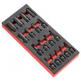 """MODM.NSXPB - moduł piankowy z 17 nasadkami udarowymi TORX® 1/2"""""""