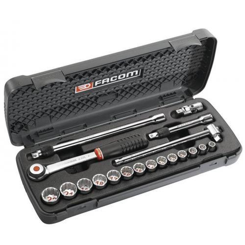 "J.500 - Box of metric-size 3/8"" 12-point sockets, 8 - 22 mm"