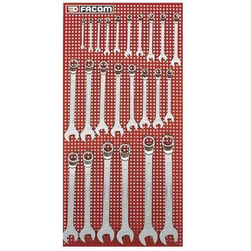 41.P24M - Zestaw kluczy oczkowo-płaskich odsadzonych, 6 - 32 mm