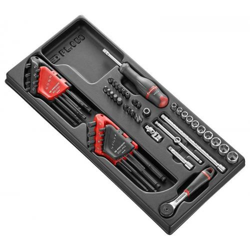 Facom 1//4/r.161-2p6/Ratchet Socket Wrench SetSocket Wrench Set Colorful Set of 15/Pieces Box