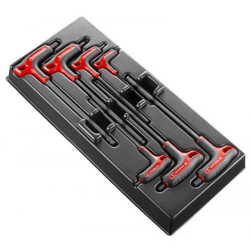 """MOD.84TZSA - Moduł 7 kluczy trzpieniowych """"T"""" 6-kątnych z kulką, 3 - 10 mm"""