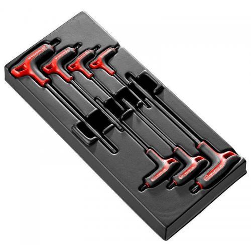 """MOD.89TXA - Moduł 7 kluczy trzpieniowych TORX, z rękojeścią oprawianą """"T"""", T10 - T40"""