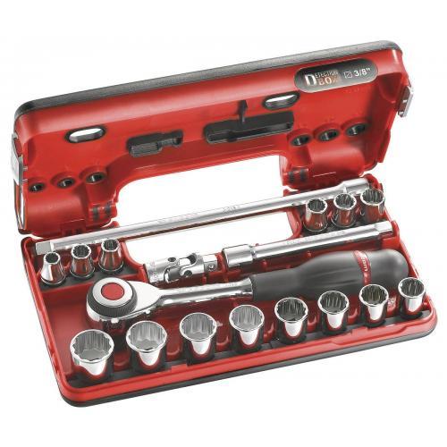 "J.360DBOX112 - zestaw nasadek 3/8"" w kasecie, 8mm - 22 mm"