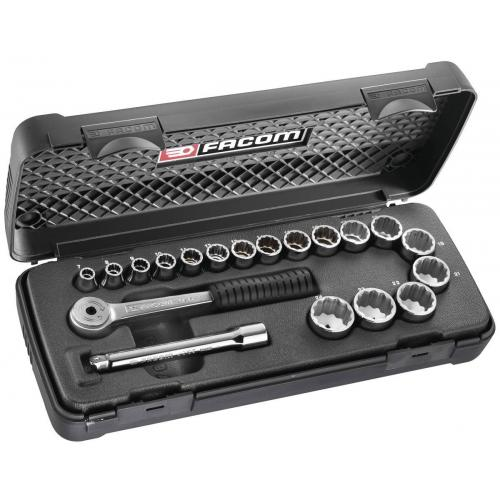 J.420E - SOCKET SET 3/8 DRI
