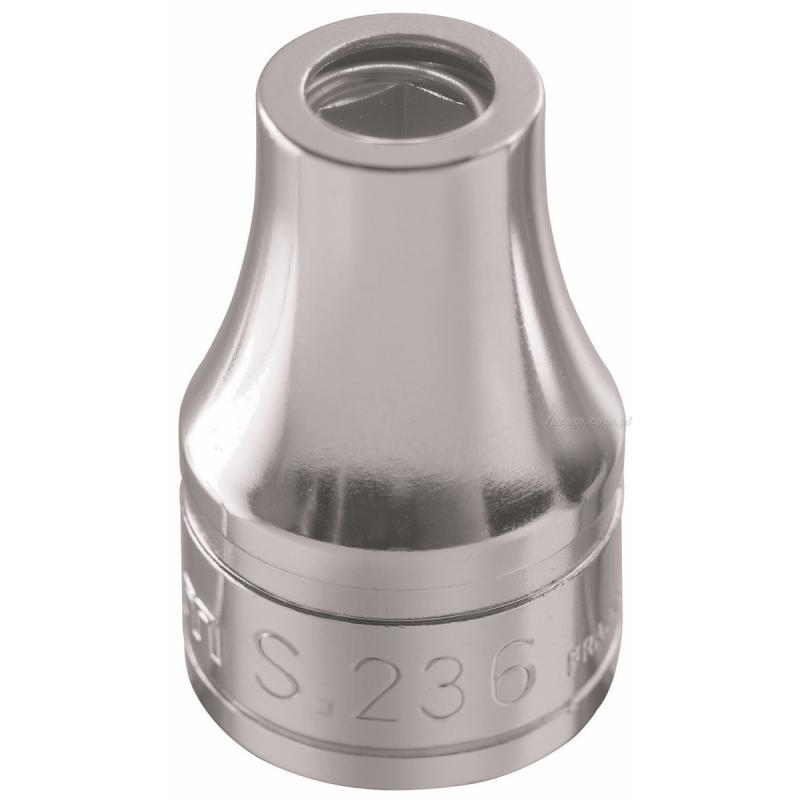 """S.237 - nasadka 1/2"""" z uchwytem do końcówek 1/2"""" i pierścieniem sprężynującym"""