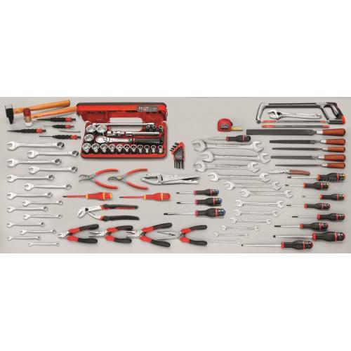 CU.120A - zestaw 102 narzędzi calowych do mechaniki ogólnej