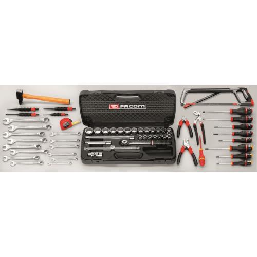 CU.100A - zestaw 55 narzędzi calowych do mechaniki ogólnej