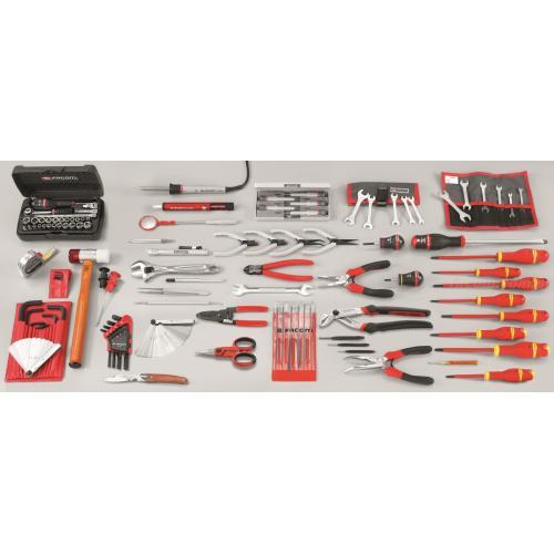 CM.INFO - zestaw 119 narzędzi serwisowych dla elektromechanika – metrycznych i calowych
