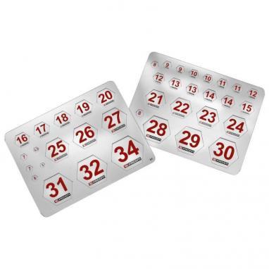 TAG - Wkładki z numerami, do nasadek 5 - 34 mm