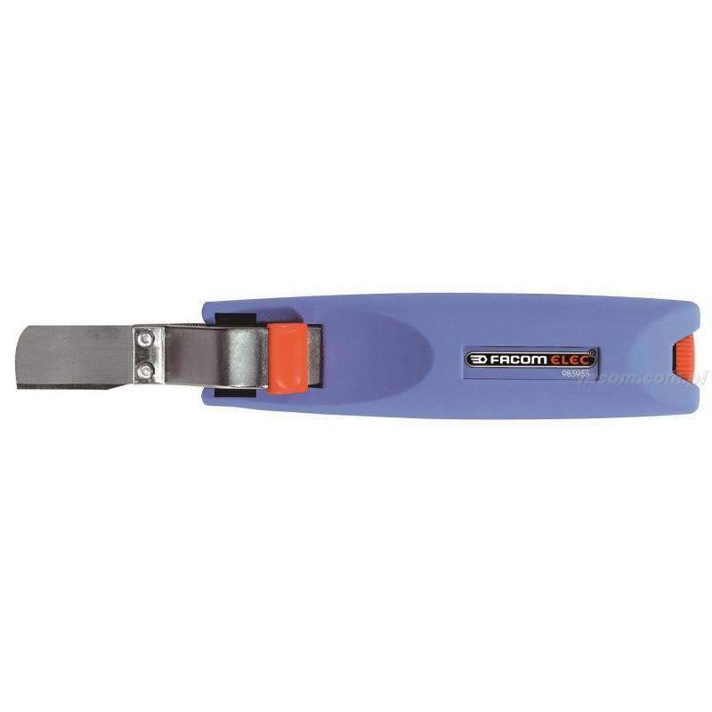 985955 - narzędzie do ściągania izolacji z ostrzem obrotowym prostym, zakres do 28 mm