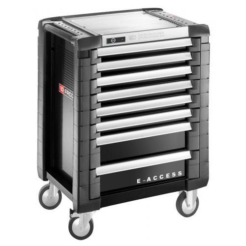 JET.8GM3EACC - wózek JET E-ACCESS z zamkiem elektronicznym, 8 szuflad