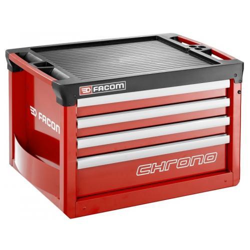 CHRONO.C4M3A - skrzynia 4 szuflady, czerwona