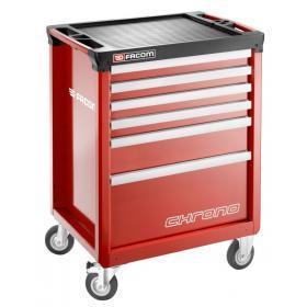 CHRONO.6M3A - wózek 6 szuflad, czerwony
