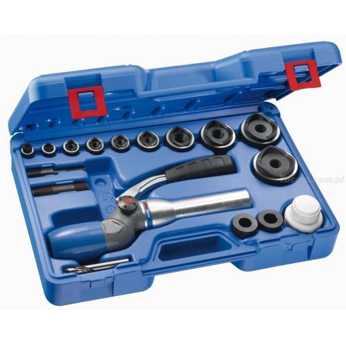 587110 - zestaw z przyrządem hydraulicznym 2-pozycyjnym i wycinaki PG7 - PG48