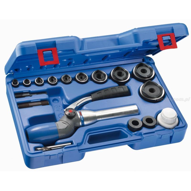587110 - zestaw z przyrządem hydraulicznym 2-pozycyjnym i wycinaki PG, 12,7 - 60 mm