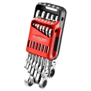467BF.JP12 - Metric hinged ratchet combination wrench set, 7 - 19 mm